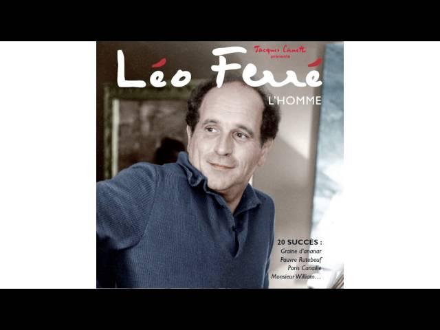 Léo Ferré Pauvre Rutebeuf Youtube