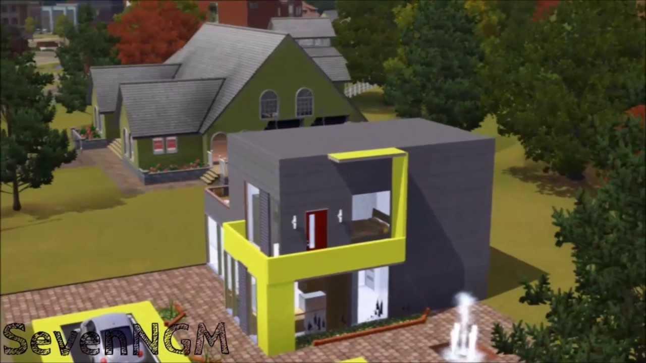 The Sims 3   Modern House Cube Tepa