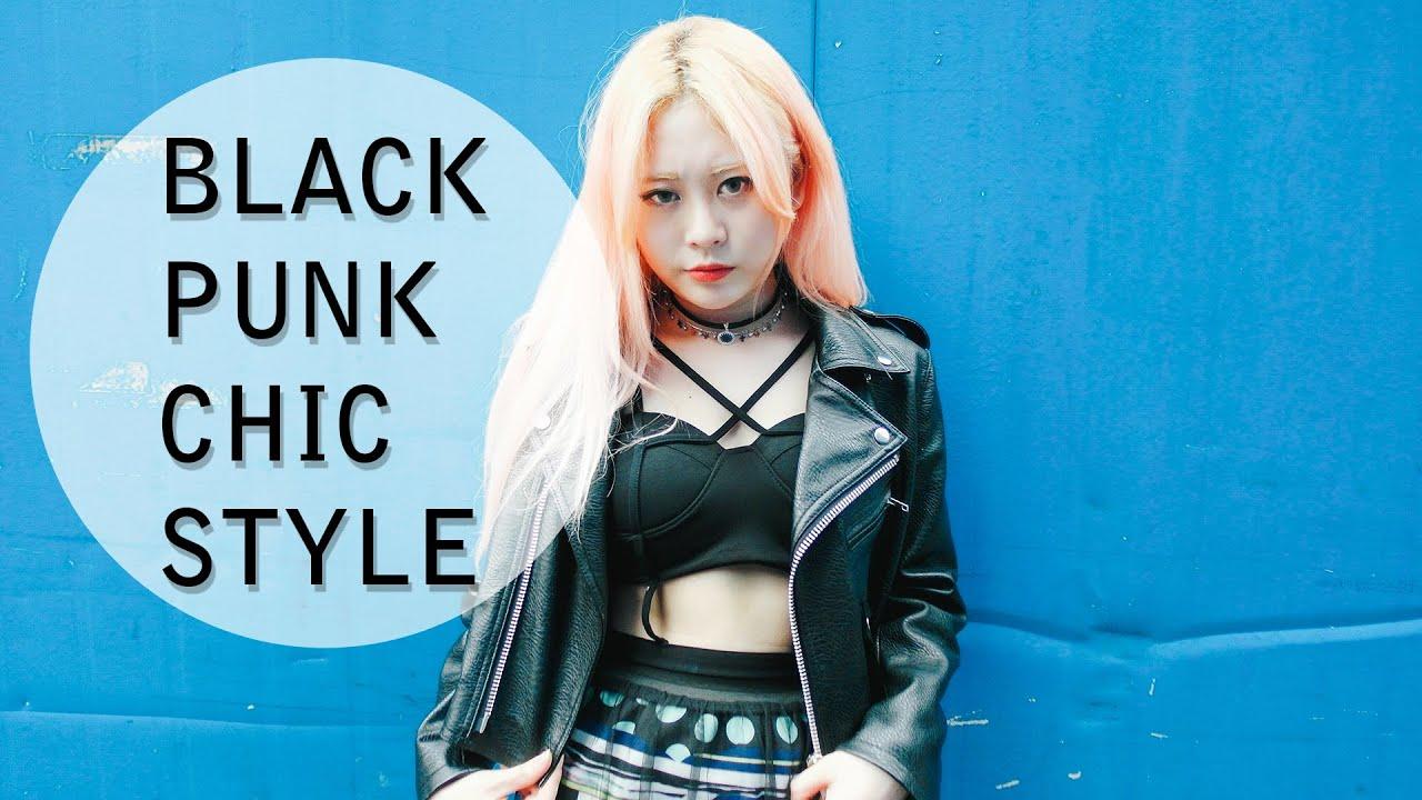 BLACK PUNK CHIC STYLE