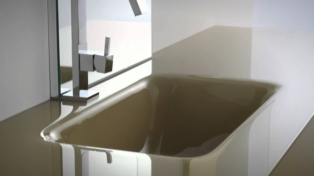 Arredo bagno vetro e resina ENEA di Edonè Design - YouTube