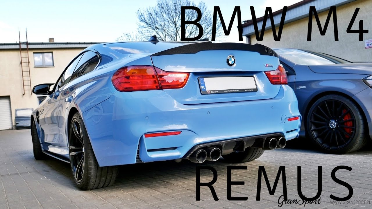 Bmw M4 With Remus Exhaust And Carbon Parts Gransportpl Thewikihow