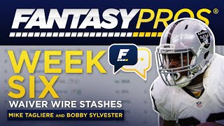 Live: Week 6 Waiver Wire Stashes (2019 Fantasy Football)