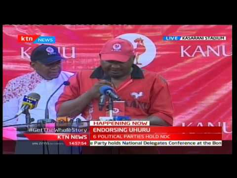 KANU officially endorses President Uhuru Kenyatta and his Deputy William Ruto