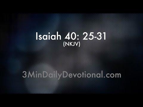 Isaiah 40:25-31 (3minDailyDevotional) (#017)