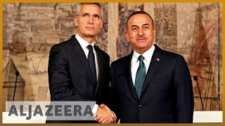 Watch: NATO leader, Turkey's Cavusoglu discuss military action in Syria