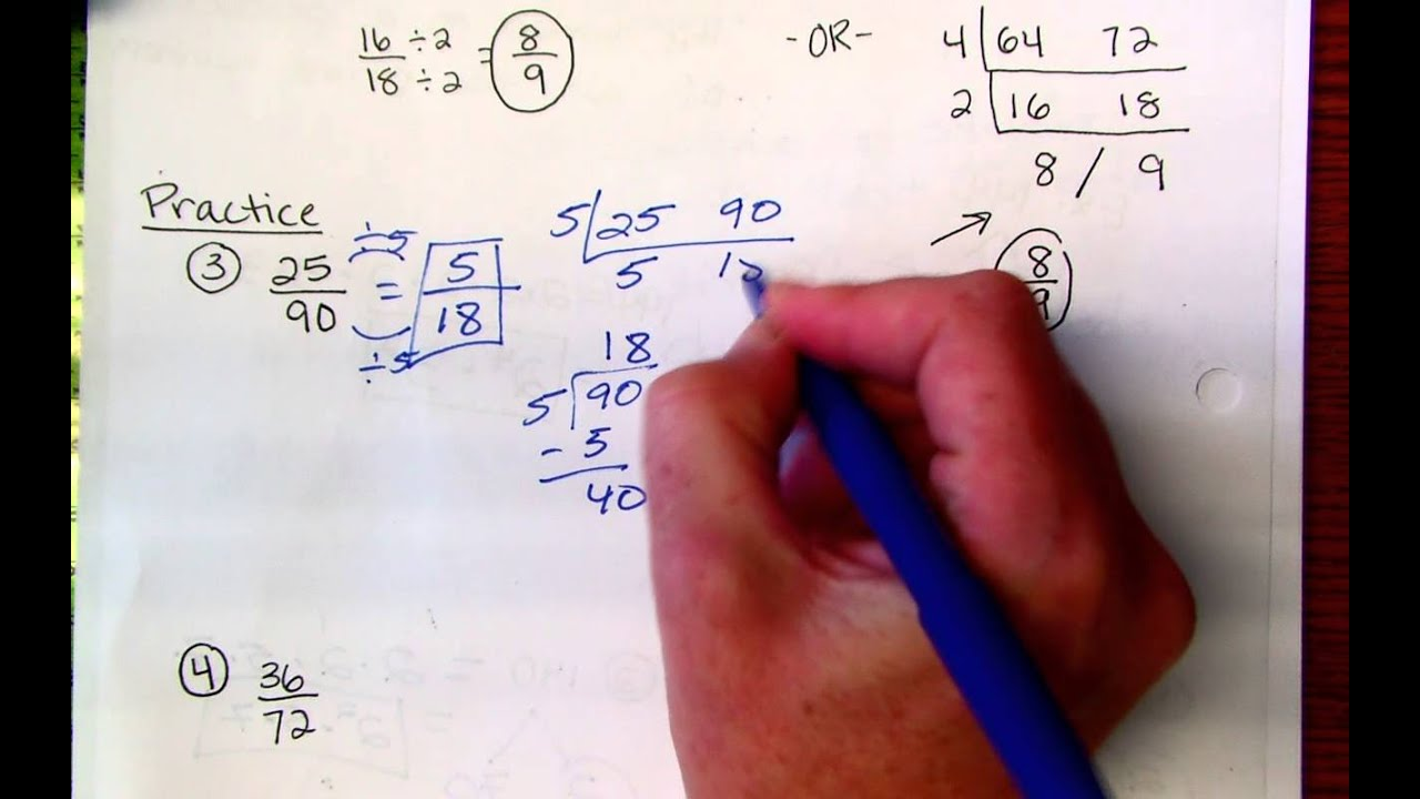 6th Grade Fractions in Simplest Form - YouTube