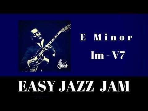 Easy Jazz Jam   Medium Swing Backing Track (Em)