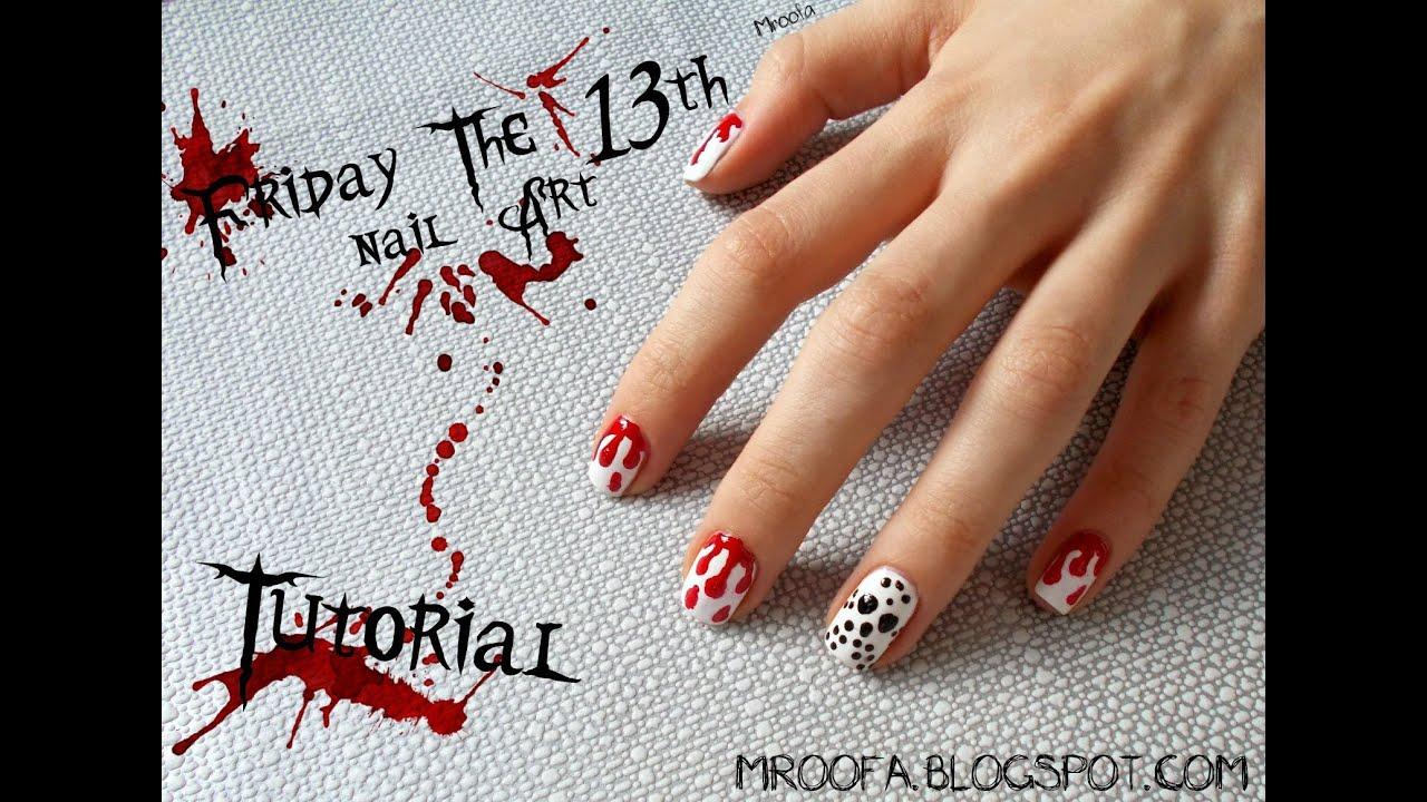 Friday the 13th Nail Art - YouTube