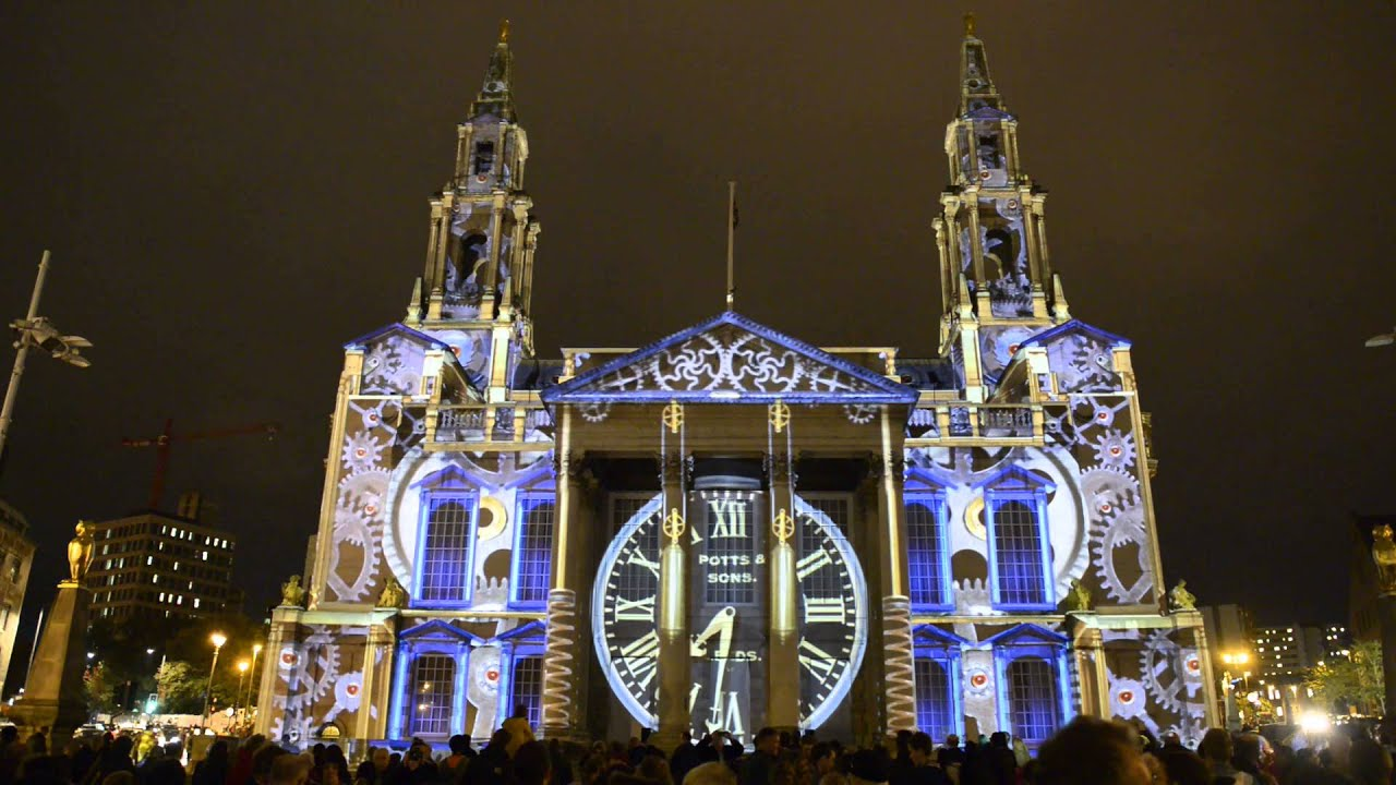 Momentous Building Projection Light Night Leeds 2013