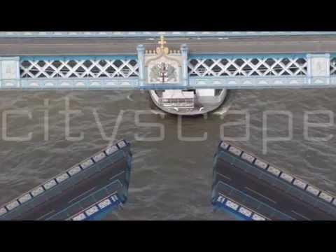 Tower Bridge. Summer 2014. London Aerial HD footage