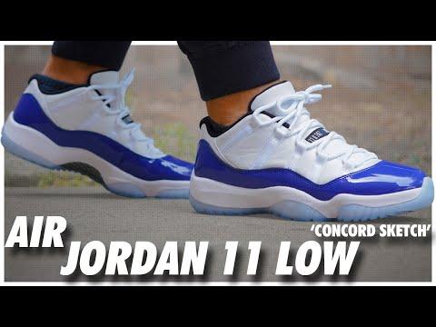 Air Jordan 11 Low Concord Sketch Youtube