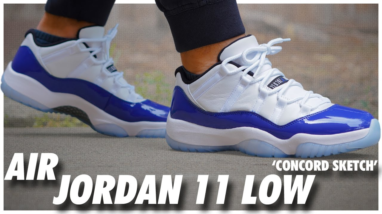 Air Jordan 11 Low Concord Sketch Youtube