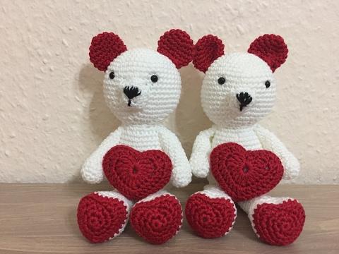 tuto amigurumi nounours amour au crochet