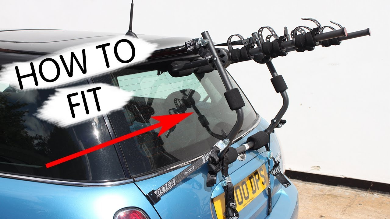 How To Fit Boot Mounted Bike Cycle Carrier Rack Bmw Mini
