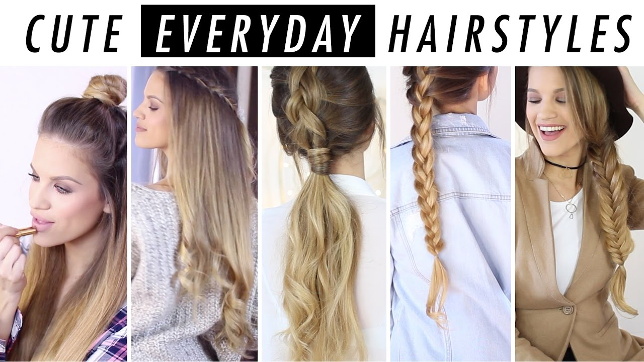 Style For Hair: Everyday Hairstyle Ideas: 5 Days Of Hair & Outfit Inspo