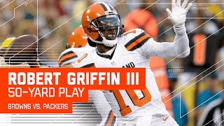 Robert Griffin III Connects with Terrelle Pryor for 50 Yards! (Preseason) | Browns vs. Packers | NFL