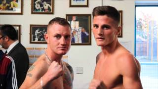 JOSH LEATHER v MICHAEL MOONEY OFFICIAL WEIGH IN & HEAD TO HEAD :
