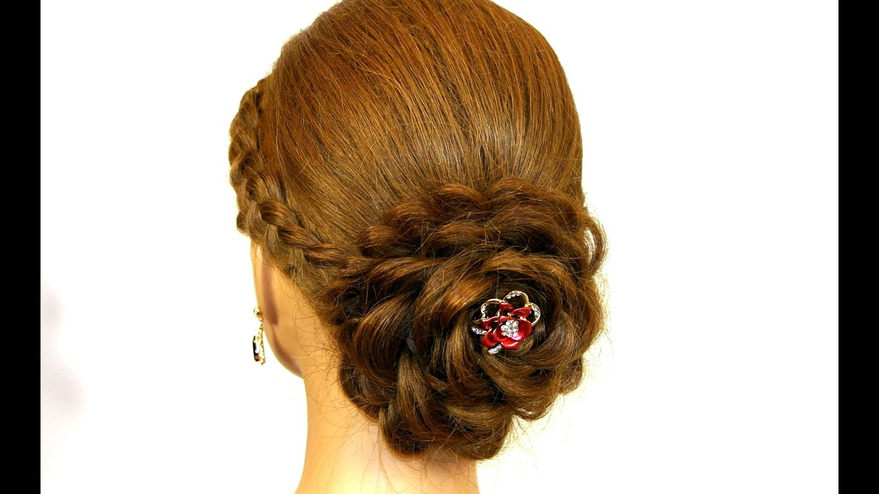 prom hairstyle long hair. updo