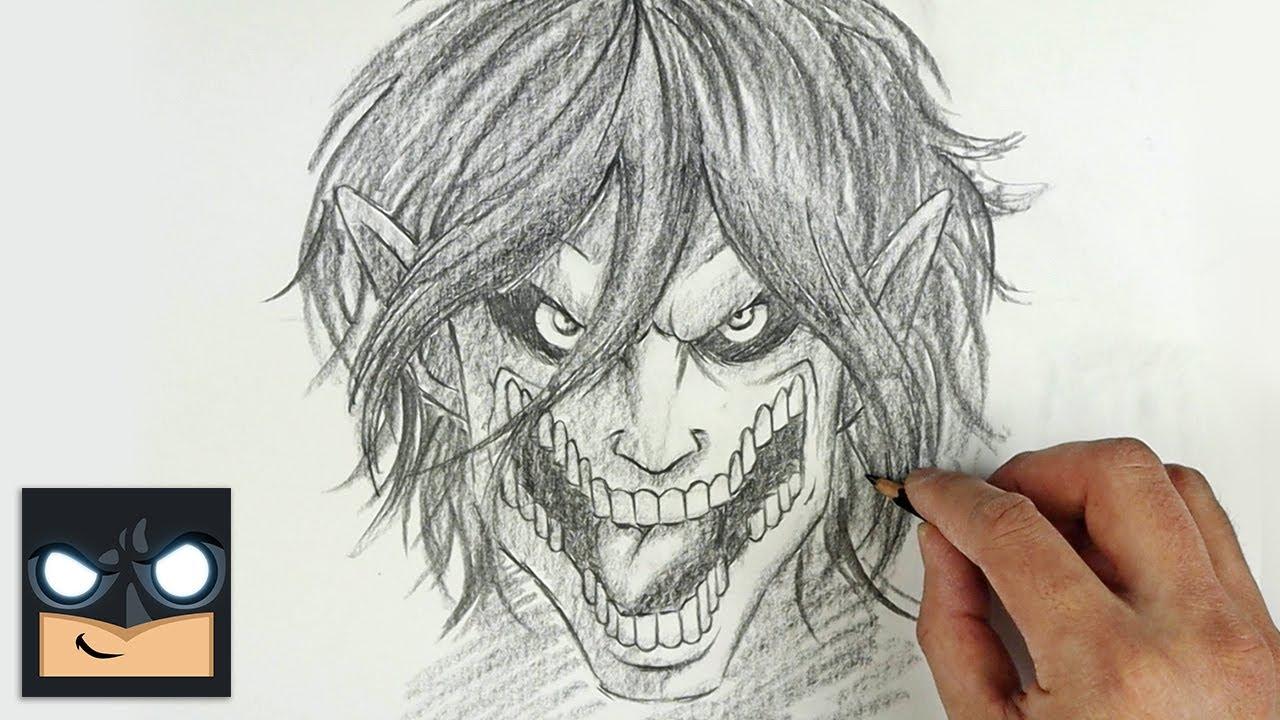 eren titan form sketch How To Draw Eren Yeager Titan Form  Sketch Saturday  Step by Step