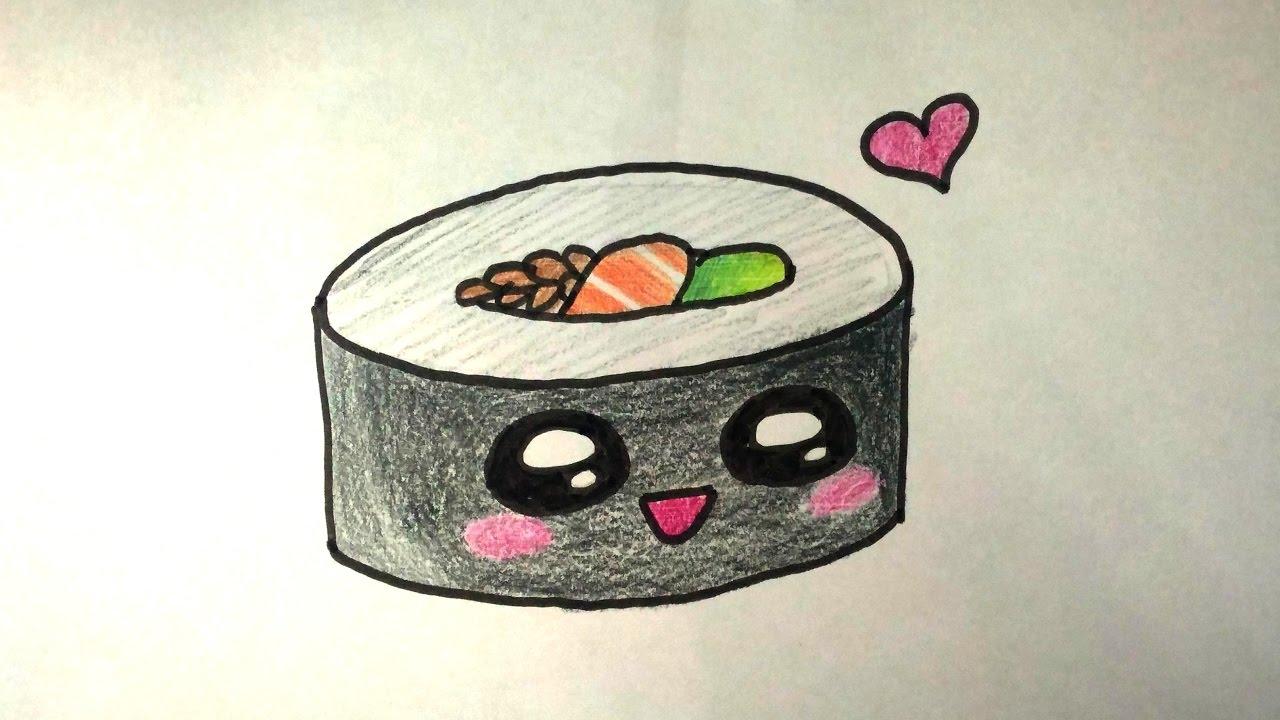 Desenhos Tumblr De Mão Estalando Como Fazer: DESENHOS FACEIS DE FAZER COMO DESENHAR SUSHI FOFO
