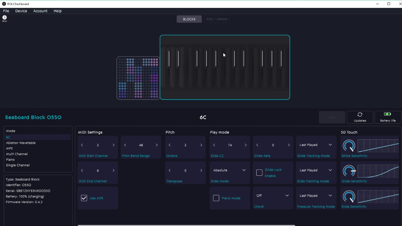 Roli with ableton software