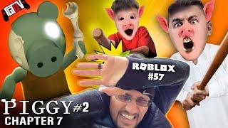 Roblox Piggy's Dad Vs Fgteev! Escape Chapter 7 Metro!  Peppa Granny Gameplay / Skit #57
