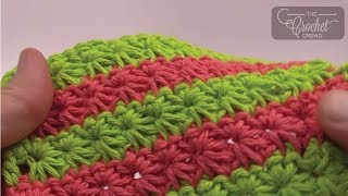 Crochet Dishcloth: Star Stitch