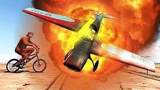KAMIKAZE PLANES vs BIKERS! (GTA 5 Minigames)