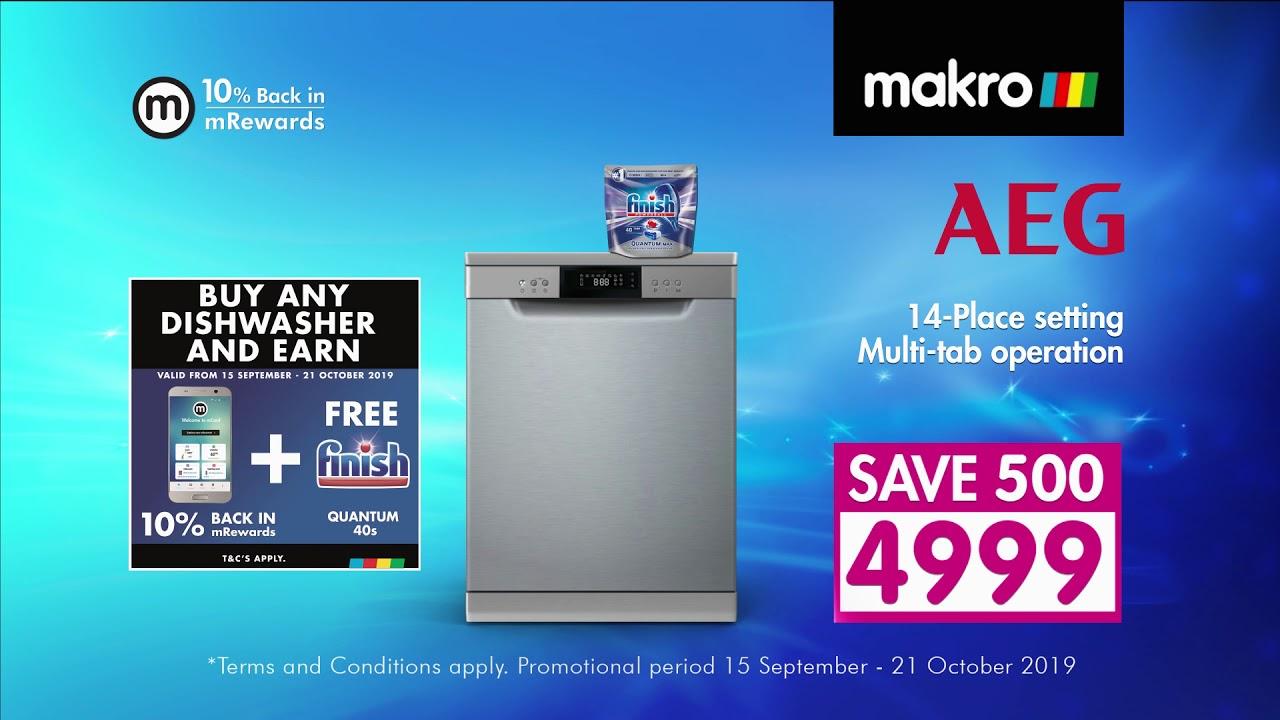 Makro Mega Dishwasher Sale September 2019 Ad 2 Youtube