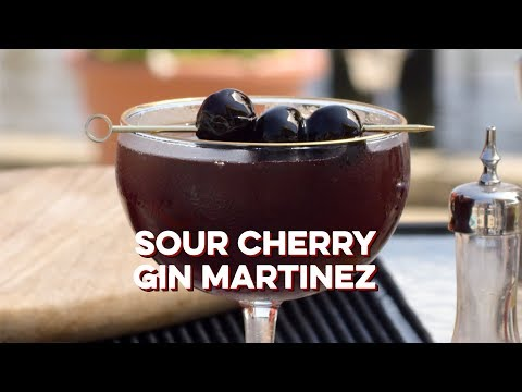 Sour Cherry Gin Martinez | How to Drink