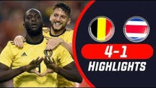 Belgium vs Costa Rica 4-1 Highlights Extended | All Goals &  Moments 2018 (Match Prediction) 720pHD
