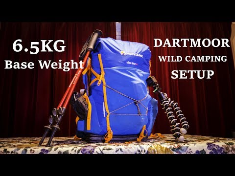 Light weight wild camping setup (base weight) for Dartmoor 3 season (6.5kg)
