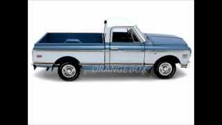 vuclip Orangebox Miniaturas Chevrolet Pick Up C-10 Fleetside 1972 Highway 61