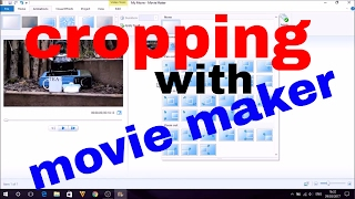 how to crop videos with movie maker