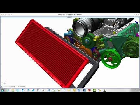 Diffuser vos conceptions 3D avec PTC Creo View MCAD