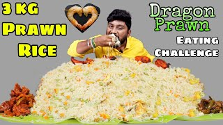 3KG Prawn Fried Rice Eating Challenge |With Dragon Prawn Prawn Tikka & Prawn Pepper Fry | Only Prawn