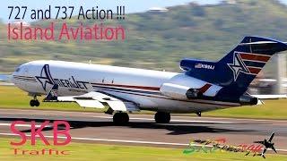 Amerijet International 727-200F, Delta Airlines 737-800 Arrivals @ St. Kitts R.L.B Int'l Airport
