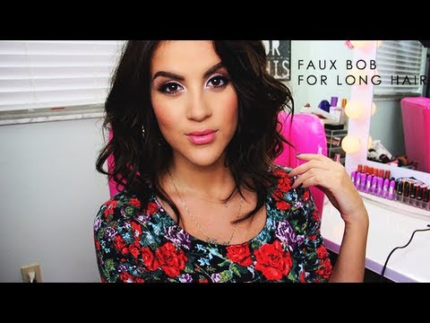 Faux bob for long hair youtube faux bob for long hair urmus Image collections