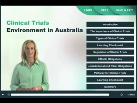 Clinical Trials Elearning modules