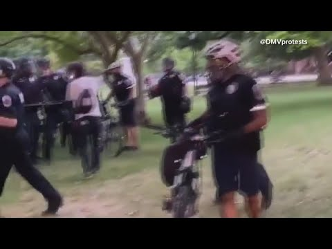 Police Use Pepper Spray To Clear Protesters Who Tried To Topple ...