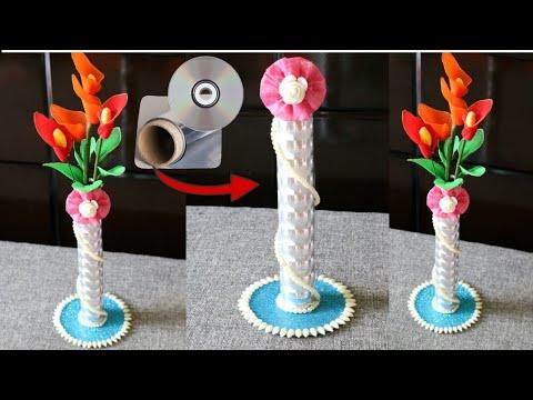 Diy Flower Pot Making At Home Best Reuse Of Aluminium Foil Tube