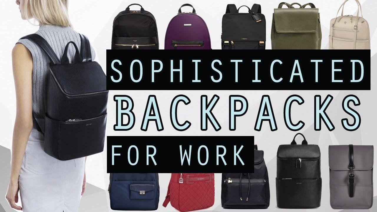 best women 39 s backpacks for work 2017 sophisticated smart youtube. Black Bedroom Furniture Sets. Home Design Ideas