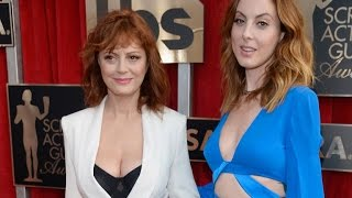 The 69-year-old stunned on sag awards red carpet in white pant suit and black bustier.