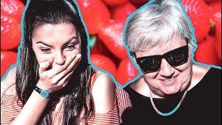 Бабушка и внучка пробуют смотреть взрослые фильмы. Реакция бабушки
