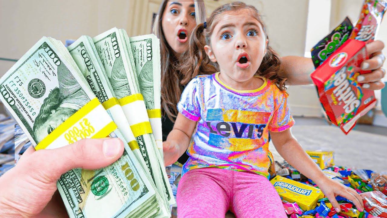 $100,000 or CANDY? 3 YEAR OLD HAS TO PICK (hilarious)