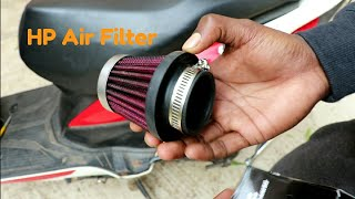 Install HP Performance air filter on Honda Dio Scooty |Change Sound  modified Scooty