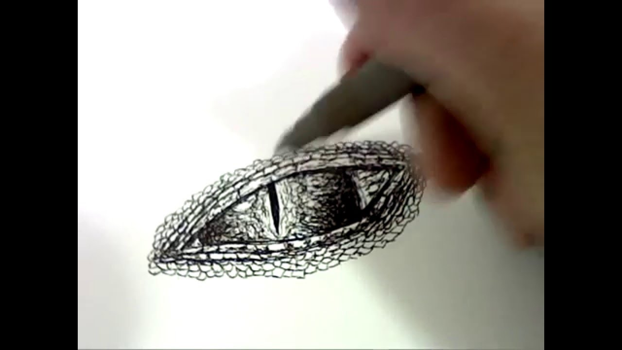 How To Draw Dragon Eyes Step By Step For Beginners New 2015  How To Make  Draw Charcoal