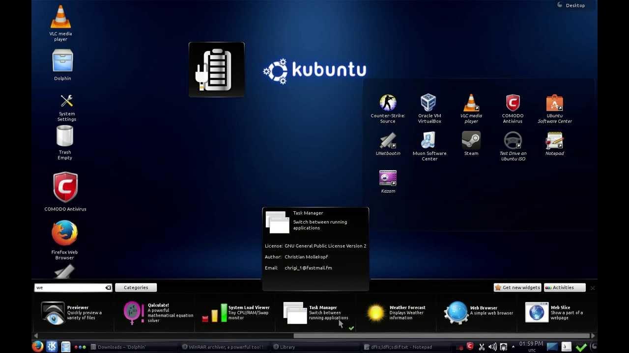 Kubuntu:widgets
