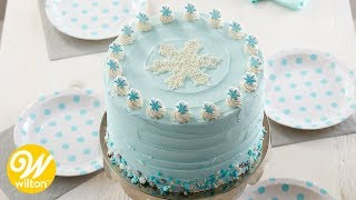 How to Make a Snowflake Christmas Cake | Wilton