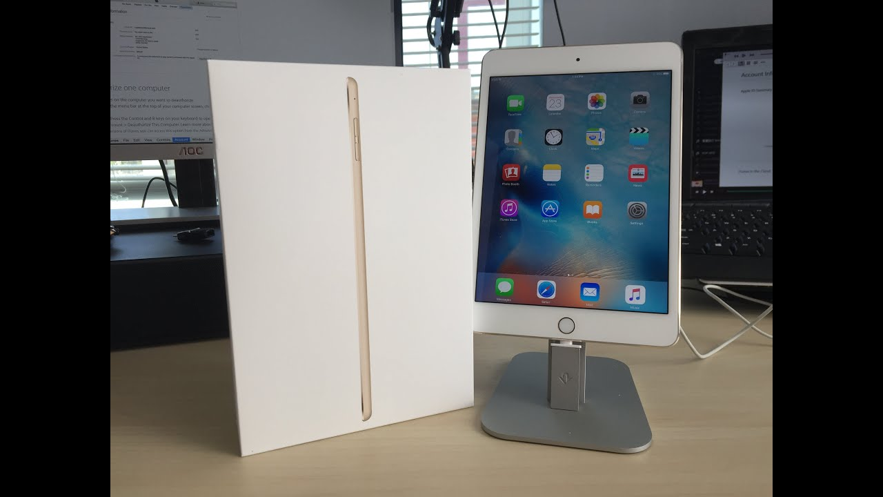 apple ipad mini 4 unboxing youtube. Black Bedroom Furniture Sets. Home Design Ideas